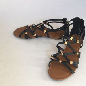 Black and gold Merona Sandals